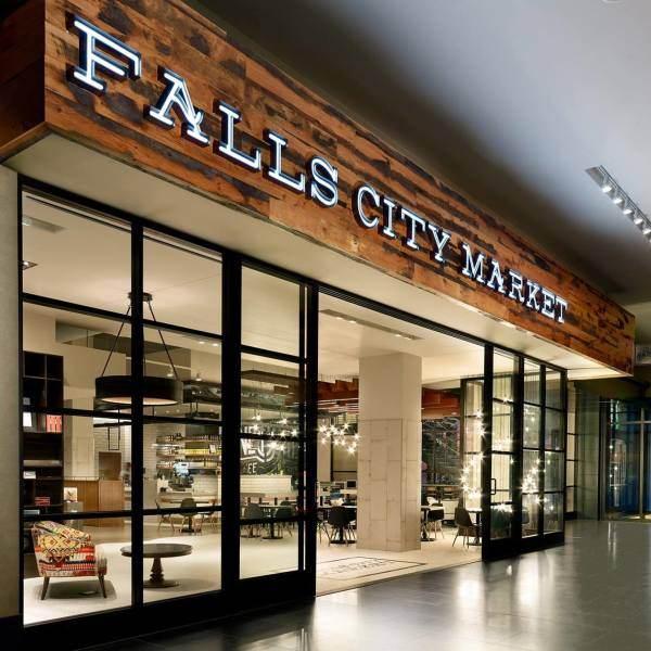 Falls City Market Entrance