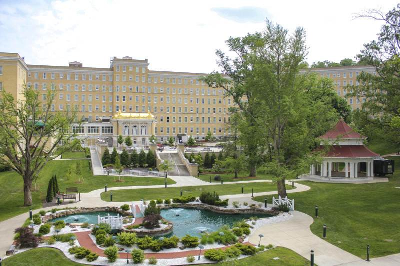 French Lick Springs Hotel Terrace