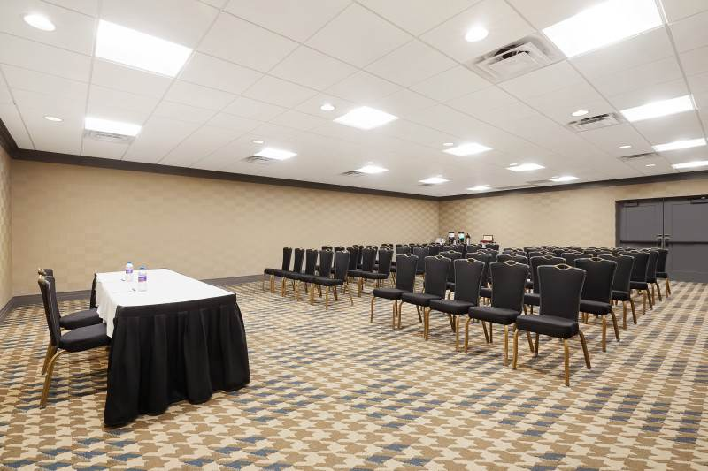 Our newly-renovated Holly Meeting Room set Theatre-style