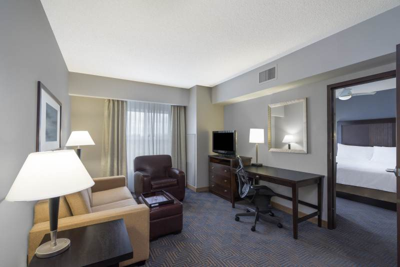 Living room for the One Bedroom Suite
