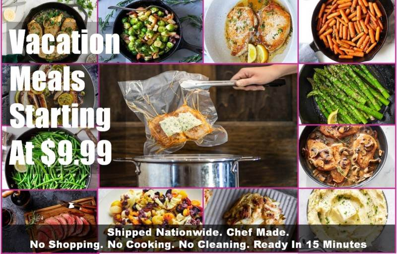 Meals Made To Travel. Great for vacations and corporate clients on the go!