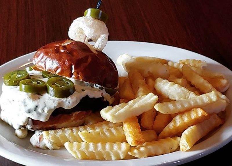 Dundee Dip Pretzel Burger