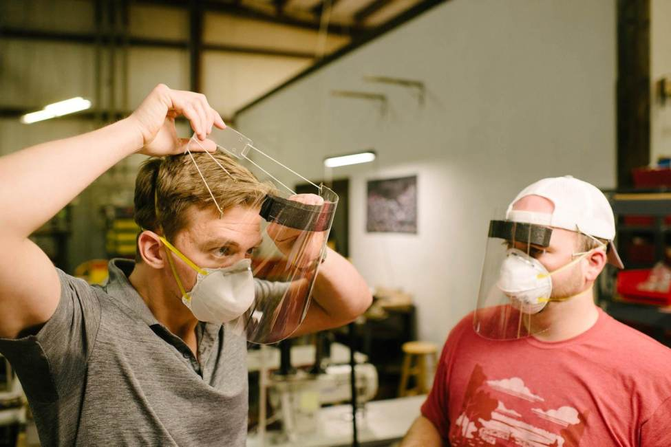 Louisville Leather Shop Shifts Gears to Help with PPE Shortage